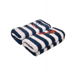 My Milestones Kids Hand Towel 2Pc Set - Navy/White