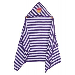 My Milestones Kids Hooded Towel Wraps - Purple/White - Cupcake