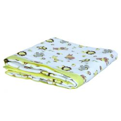 My Milestones Muslin Baby 3 Layered Blanket - Zoo Lemon Yellow