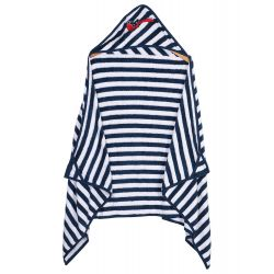 My Milestones Kids Hooded Towel Wraps - Navy/White - Guitar