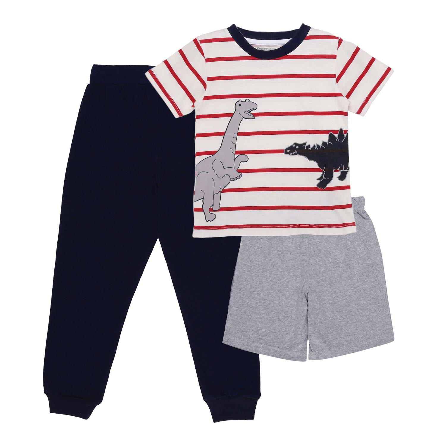 My Milestones Boys 3pcs Lounge Set - Dino Blue/Red
