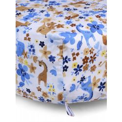 My Milestones Crib Sheet - Animal Garden - Blue