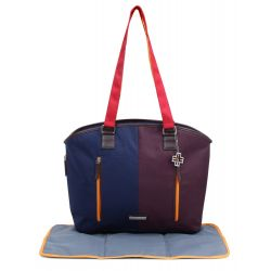 My Milestones Diaper Bag Ladylike - Navy/Wine