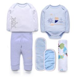 My Milestones Love Bundle Infant Gift Set A - 6pcs - Blue