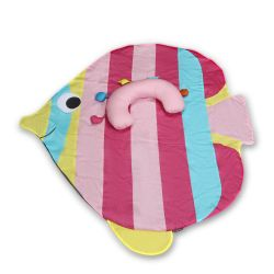 My Milestones Tummy-Time Playmat With Sensory Pillow - Rainbow Fish-Pink
