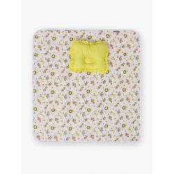 My Milestones Nursery Play Mat With Pillow - Zoo Print- Yellow