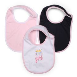 My Milestones Bibs Value Set 3 pcs - White/Pink/Navy Blue