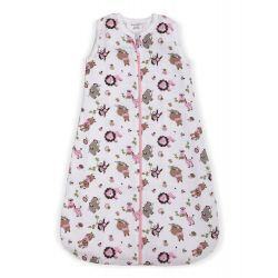 My Milestones Baby Dream Sack-Muslin-Zoo Pink