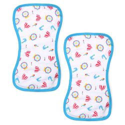 My Milestones Luxe all-purpose Washcloths 2pc Set - Carnival Blue