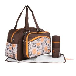 My Milestones Duo Detach 2-In-1 Baby Diaper Bag/Mothers Bag - Coffee Citrus