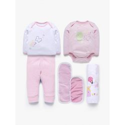 My Milestones Love Bundle Infant Gift Set A - 6pcs - Pink