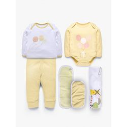 My Milestones Love Bundle Infant Gift Set A - 6 pcs - Yellow