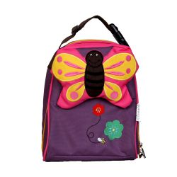 PVC FREE 3D Animal Lunch Bag for Kids Butterfly 1