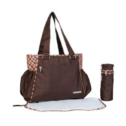 My Milestones Spectra Baby Diaper Bag/Mothers Bag - Brown Plaid