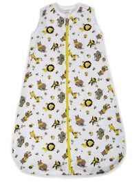 My Milestones Baby Dream Sack-Muslin-Zoo Yellow