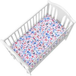 My Milestones Crib Sheet - Animal Garden - Pink