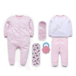 My Milestones Love Bundle Infant Gift Set B - 6 pcs - Pink