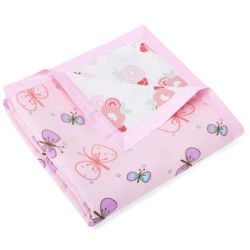 My Milestones Muslin Blanket 3 Layered -  Flower Bunch and Butterfly