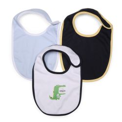 My Milestones Bibs Value Set 3 pcs - White/Baby Blue/Navy Blue