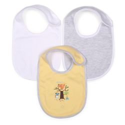 My Milestones Bibs Value Set 3 pcs - Yellow/White/Grey
