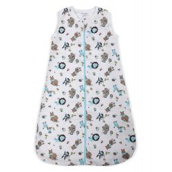 My Milestones Baby Dream Sack-Muslin -Zoo Blue