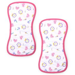 My Milestones Luxe all-purpose Washcloths 2pc Set - Carnival Pink