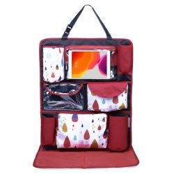 My Milestones Car Seat/Travel Organizer - Raindrop Red
