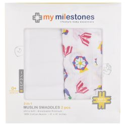 100% cotton baby swaddle