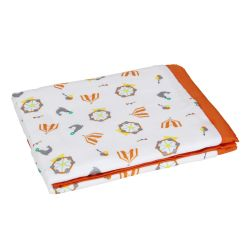 My Milestones Muslin Baby 2 Layered Blanket - Carnival Orange